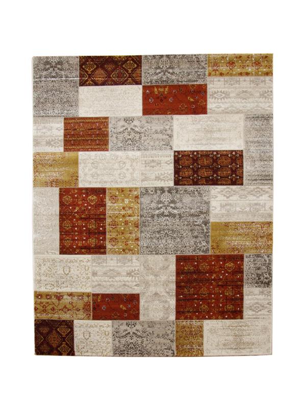 トルコ製 ウィルトン織り カーペット 『キエフ RUG』 オレンジ 約160×235cm(代引き不可)【送料無料】