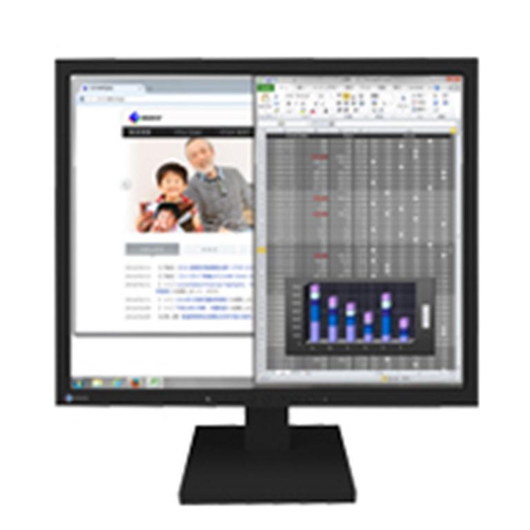 EIZO <FlexScan>19インチモニター(1280x1024/DisplayPort(HDCP対応)x1/DVI-D 24ピン(HDCP対応)x1/D-Sub 15ピン(ミニ)x1/ブラック) S1934-TBK(代引き不可)