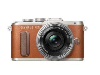 オリンパス <PEN>OLYMPUS ミラーレス一眼カメラ PEN E-PL8・14-42mm EZレンズキット(1605万画素/ブラウン) PEN E-PL8 14-42MM EZ LK BRN(代引き不可)