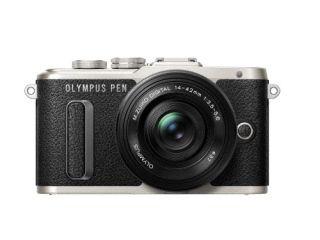 オリンパス <PEN>OLYMPUS ミラーレス一眼カメラ PEN E-PL8・14-42mm EZレンズキット(1605万画素/ブラック) PEN E-PL8 14-42MM EZ LK BLK(代引き不可)