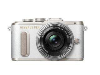 オリンパス <PEN>OLYMPUS ミラーレス一眼カメラ PEN E-PL8・14-42mm EZレンズキット(1605万画素/ホワイト) PEN E-PL8 14-42MM EZ LK WHT(代引き不可)