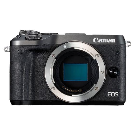 キヤノン <EOS>Canon ミラーレス一眼カメラ EOS M6・ボディ(2420万画素/ブラック)[1724C004] EOSM6BK-BODY(代引き不可)