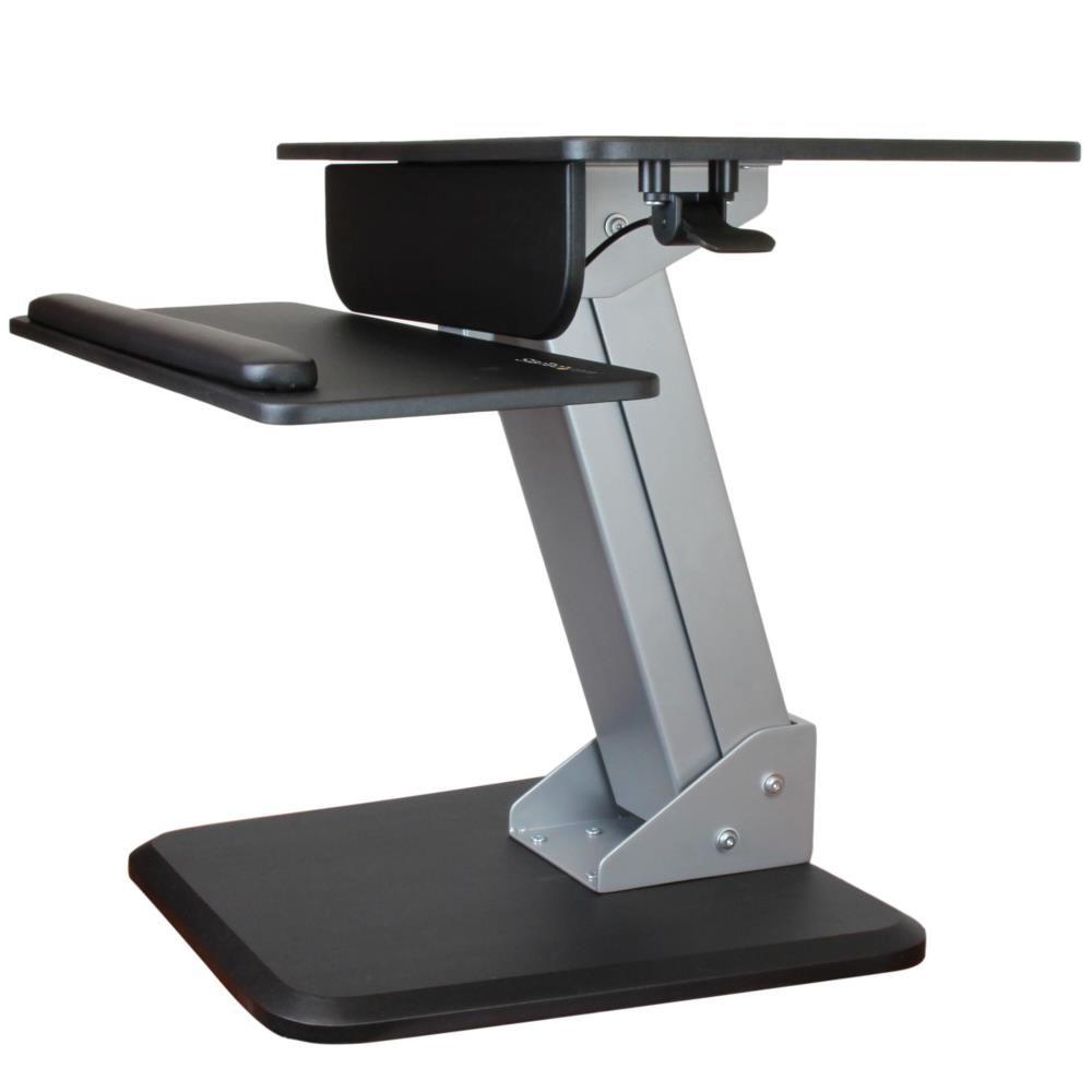 StarTech 立位・座位ワークステーション エルゴノミクス上下昇降式リフティングデスク ワンタッチ高さ調整用空気圧式スプリング ARMSTS(代引き不可)