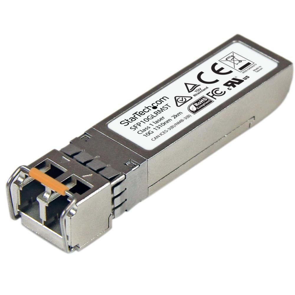 StarTech 10ギガビットSFP+光トランシーバモジュール Cisco製SFP-10G-LRM互換 マルチモード LCコネクタ 220m デジタル診断モニタ(DDM)対応mini GBIC SFP10GLRMST(代引き不可)
