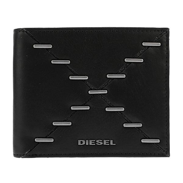 ディーゼル DIESEL ユニセックス 二つ折り 短財布 X04121-PS778-H1669 ブラック【送料無料】