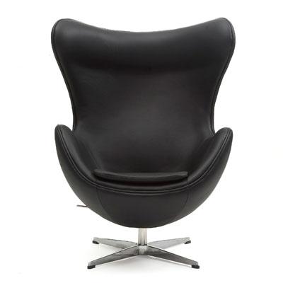 送料無料 セール 登場から人気沸騰 アルネ ヤコブセン 男女兼用 エッグチェア 総本革 Arne Jacobsen Egg Chair ソファ ラウンジチェア 単体 リプロダクト シングルソファ 代引不可 1人掛け イタリアン総本革仕様
