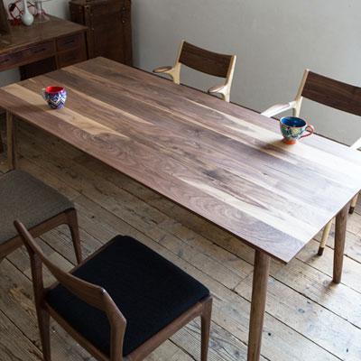 ノードダイニングテーブル Lサイズ 180cm ウォルナット 無垢材(代引不可)【送料無料】