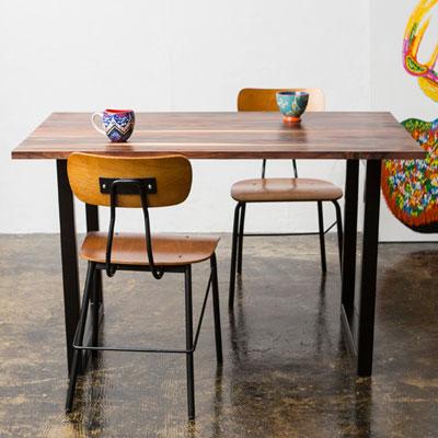 ソリッド ダイニングテーブル Sサイズ 120cm Solid Dining Tableローズウッド 無垢材 TIMELESS CRAFT(代引不可)【送料無料】