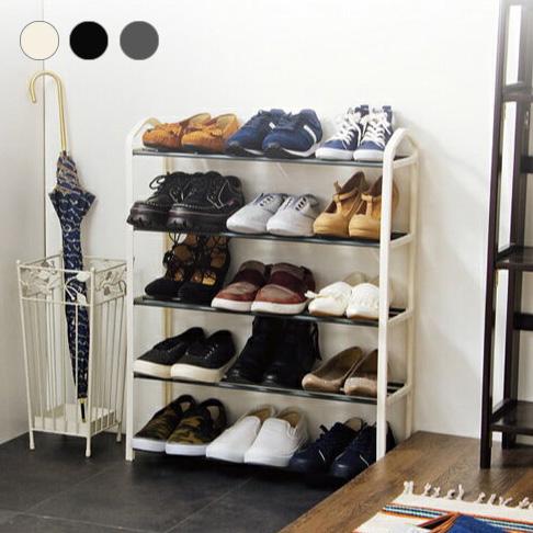 価格 送料無料 シューズラック 5段 収納 靴箱 シューズボックス シューズbox 一人暮らし 下駄箱 テレビで話題 薄型 靴入れ スリム