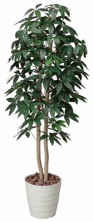 アートグリーン 人工観葉植物 光触媒 光の楽園 パキラツリー1.6(代引き不可)【送料無料】【S1】