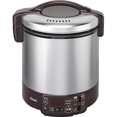 リンナイ タイマー・電子ジャー付ガス炊飯器(LPガス用) 10合 RR-100VMT(DB) ダークブラウン(代引不可)【送料無料】