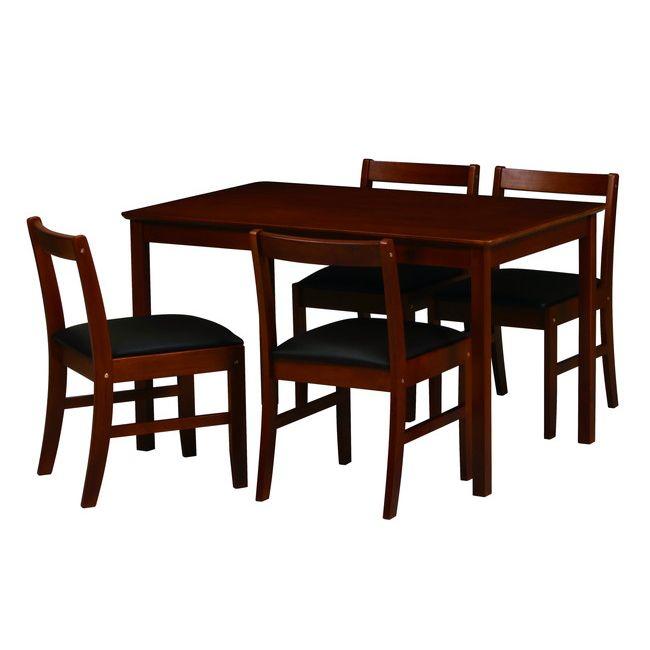 ダイニング5点セット ETT-1275 ダイニング ダイニングセット 天然木 木製 ダイニングテーブルセット 食卓 ダイニングテーブル(代引不可)【送料無料】