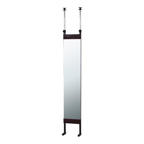 突っ張りミラー 幅30cm 全身鏡 鏡 ミラー 姿見 かがみ 壁掛け 飛散防止 間仕切り 目隠し パーテーション 壁面 デッドスペース(代引不可)【送料無料】
