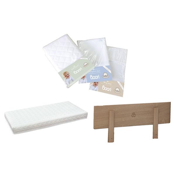 【BOORI】 寝具5点セット ラップシーツ(L) キルトパッド(L) 防水シーツ(L) スプリング入りマットレス(L) ベッドガード(代引不可)【送料無料】