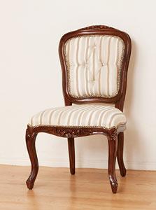 マルシェ チェアー 肘なし ブラウン アンティーク 椅子 チェア(代引き不可)【送料無料】