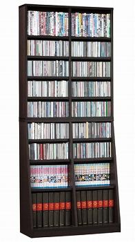 本棚 収納 可動棚 ディスプレイ SOHO 書棚W75 ダークブラウン(代引き不可)【送料無料】