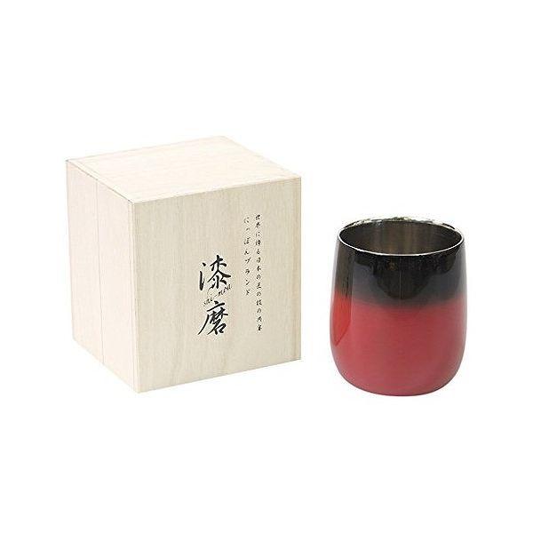 アサヒ こだわりの極み 食楽工房 2重構造ロックカップダルマ赤彩 SCW-D602【送料無料】