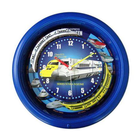 ダブルトレイン 新幹線クロック ブルー 時計 かわいい 新幹線 男の子 プレゼント 電車 ギフト 喜ばれる(代引不可)【送料無料】
