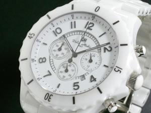 ドルチェ メディオ 腕時計 セラミック クロノグラフ DM9007-WHA【送料無料】【RCP】