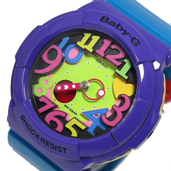 カシオ ベイビーG クレイジーネオンシリーズ 腕時計 時計 BGA-131-6B マルチカラー