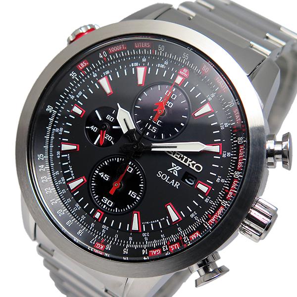 セイコー プロスペックス クロノ ソーラー メンズ 腕時計 時計 SSC349P1 ブラック