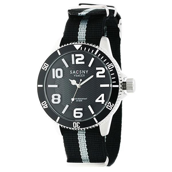 サクスニーイザック SACSNY YSACCS クオーツ メンズ 腕時計 時計 SYA 15105 BKSV ブラックc34LqAj5RS