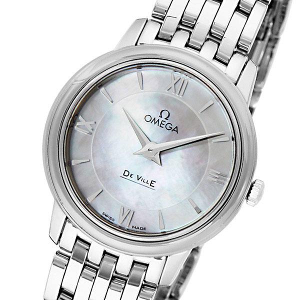 オメガ デ・ビル クオーツ レディース 腕時計 42410276005001 ホワイトパール【送料無料】