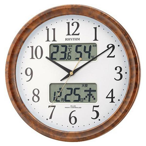 リズム RHYTHM ピュアカレンダー 電波掛時計 4FY617SR23 ホワイト