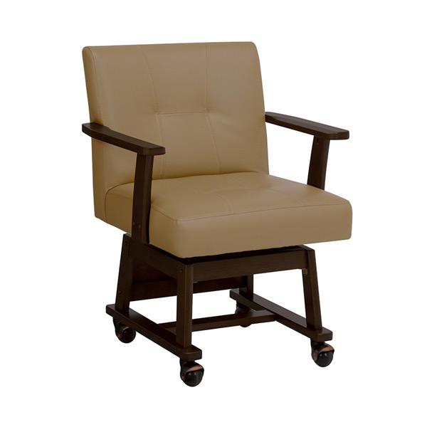 回転チェアー イス 椅子 KC-7584DBR 4934257225717 ダークブラウン 代引き不可