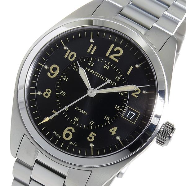 ハミルトン カーキフィールド クオーツ メンズ 腕時計 H68551133 ブラック【送料無料】