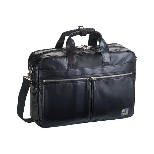 モビーズ シリコンコート ビジネスバッグ ブリーフケース メンズ 26555 ブラック