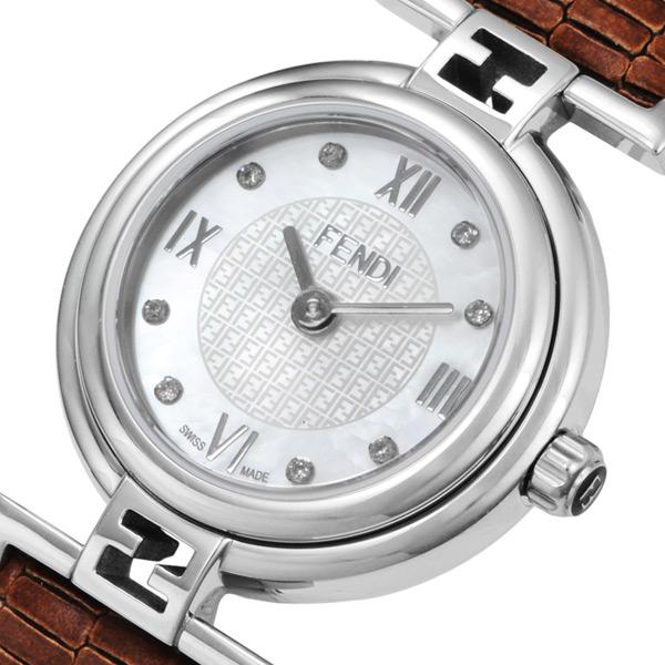 フェンディ FENDI モダ クオーツ レディース 腕時計 F271242D ホワイトパール【送料無料】