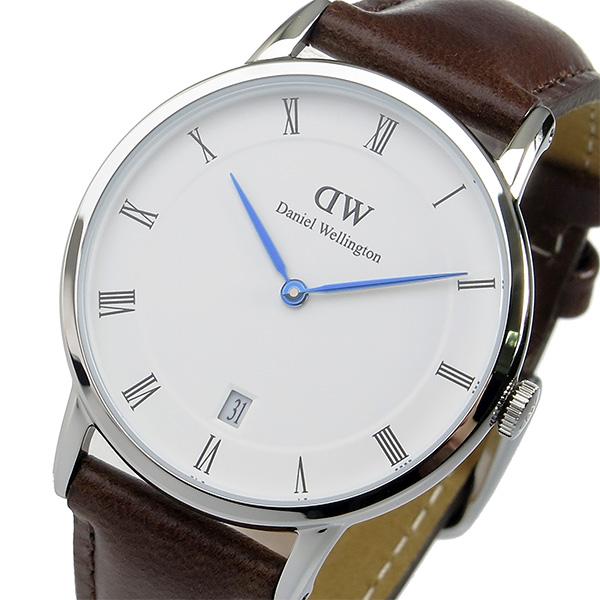ダニエル ウェリントン ダッパー ブリストル/シルバー 34mm 腕時計 時計 1143DW