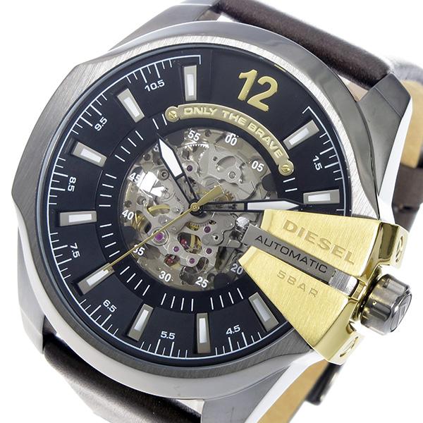 ディーゼル DIESEL メガチーフ 自動巻き メンズ 腕時計 時計 DZ4379 ブラック