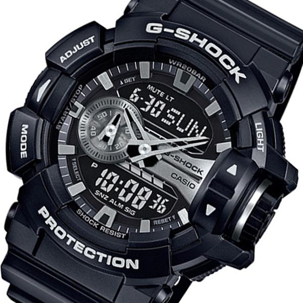 ラッピング無料 カシオ CASIO Gショック クオーツ メンズ 新品 ブラック 時計 GA-400GB-1A 腕時計 海外輸入