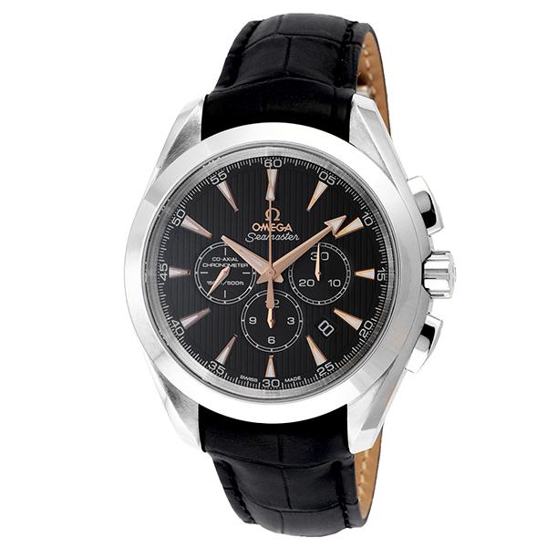 オメガ OMEGA シーマスター アクアテラ クロノ 自動巻き メンズ 腕時計 231.53.44.50.01.001 ブラック【送料無料】