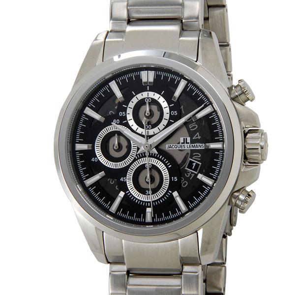 ジャックルマン クロノ デイト スケルトン クオーツ メンズ 腕時計 時計 1-1847E スケルトン