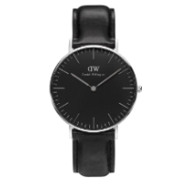 ダニエル ウェリントン クラシック ブラック シェフィールド/シルバー 40mm メンズ 腕時計 時計 DW00100133