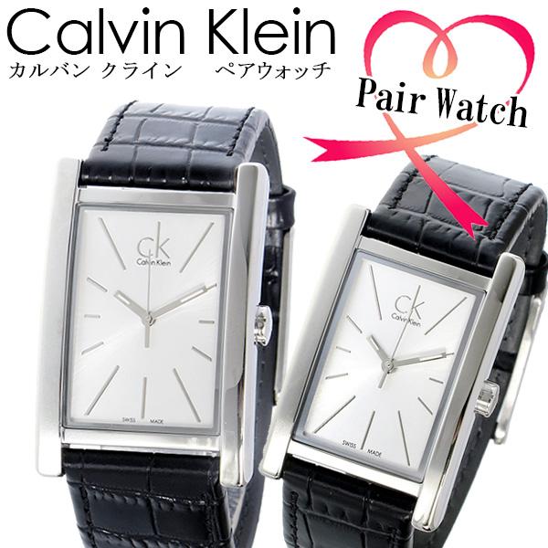 【ペアウォッチ】 カルバンクライン リファイン ホワイト レザーベルト 腕時計 時計 K4P231C6 K4P211C6