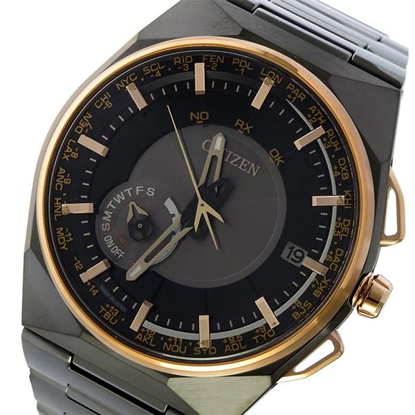 シチズン エコドライブ サテライト ウェーブ 電波 ソーラー メンズ 腕時計 CC2004-59E ブラック/グレー【送料無料】