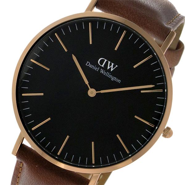 ダニエル ウェリントン クラシック ブラック ダラム/ローズ 40mm メンズ 腕時計 時計 DW00100126
