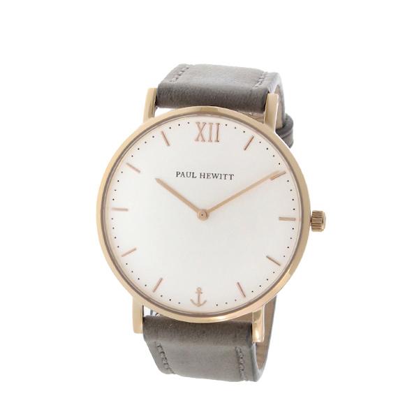ポールヒューイット Sailor Line 36mm ユニセックス 腕時計 時計 6451714 PHSARSMW13S ホワイト/グレー