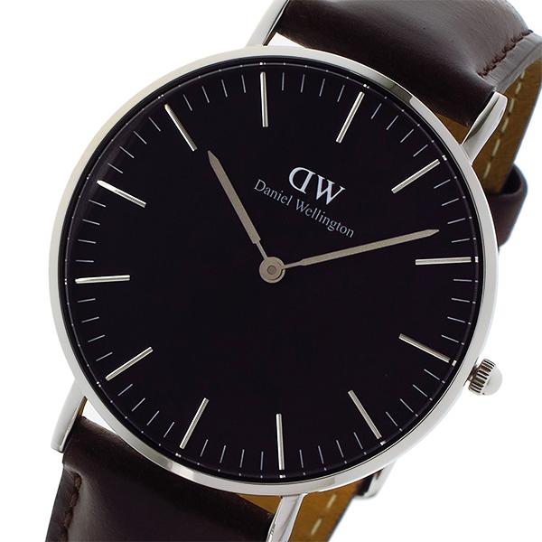 ダニエル ウェリントン クラシック ブラック ブリストル/シルバー 36mm ユニセックス 腕時計 時計 DW00100143