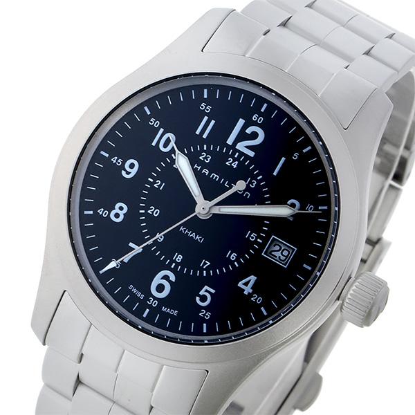 ハミルトン HAMILTON カーキ フィールド KHAKI クオーツ メンズ 腕時計 時計 H68201143 ネイビー