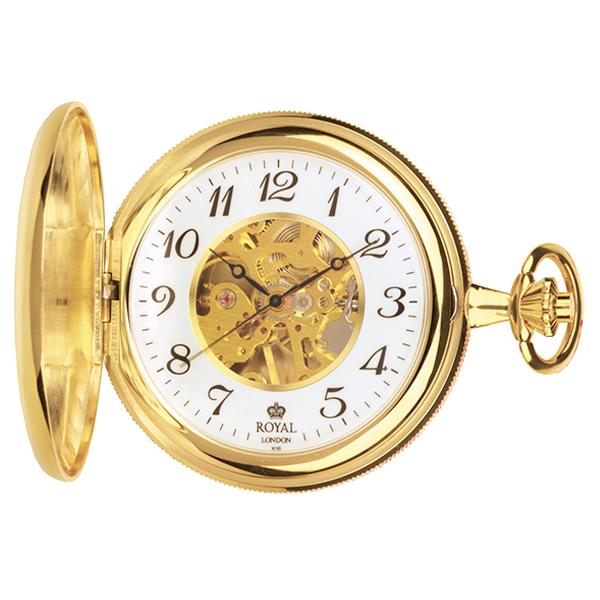ロイヤル ロンドン ROYAL LONDON 手巻き 懐中時計 ポケットウォッチ 90004-01 ゴールド【楽ギフ_包装】