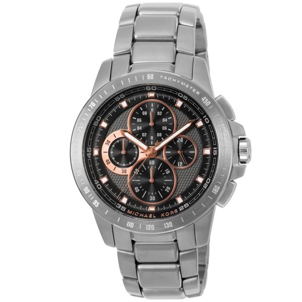 マイケル コース MICHAEL KORS Ryker ライカー クロノ クオーツ メンズ 腕時計 時計 MK8528 ブラック
