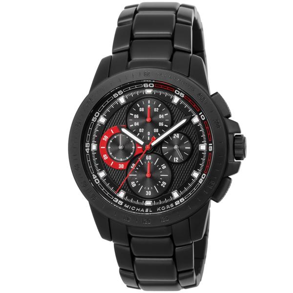 マイケル コース MICHAEL KORS Ryker ライカー クロノ クオーツ メンズ 腕時計 時計 MK8529 ブラック