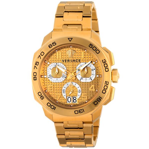ヴェルサーチ VERSACE ディロス クロノ クオーツ メンズ 腕時計 VQC040015 ゴールド【送料無料】
