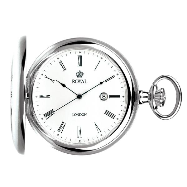 ロイヤル ロンドン ROYAL LONDON クオーツ 懐中時計 ポケットウォッチ 90001-01 シルバー【楽ギフ_包装】