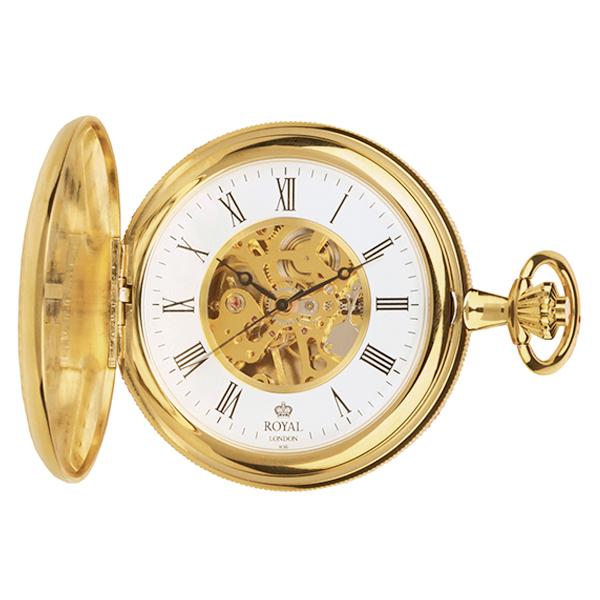 ロイヤル ロンドン ROYAL LONDON 手巻き 懐中時計 ポケットウォッチ 90005-02 ゴールド【楽ギフ_包装】